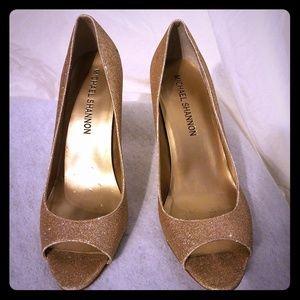 Michael Shannon gold heels size 7